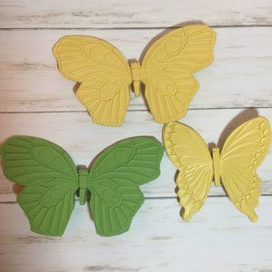 Vintage Butterfly Butterflies Wall Decor 1972 70's